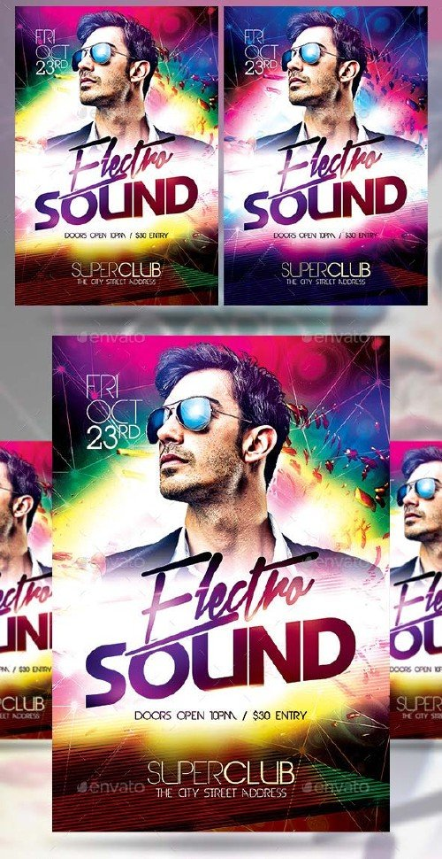 GraphicRiver Electro Sound Party
