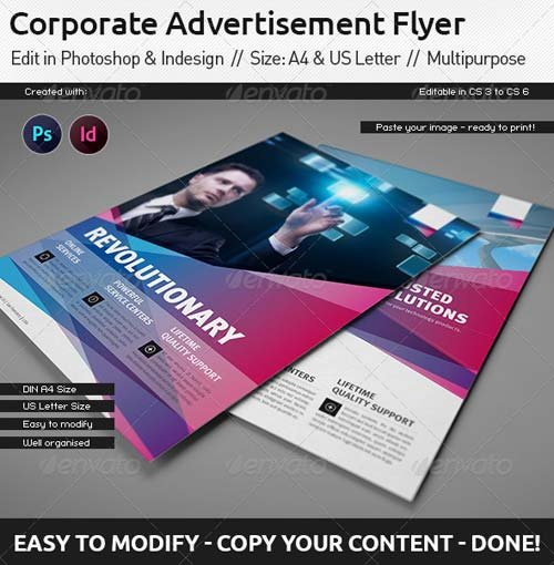 GraphicRiver Corporate Flyer / Ad Template / US Letter / Din A4