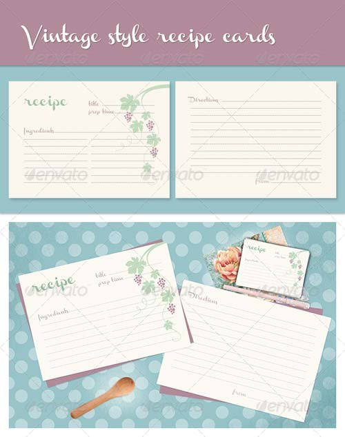 GraphicRiver Recipe Cards