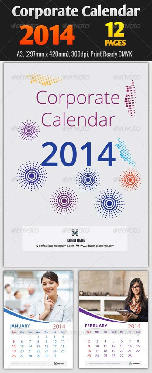 GraphicRiver Corporate Calendar 2014 Templates