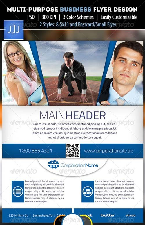 GraphicRiver Business Flyer 11 with Postcard