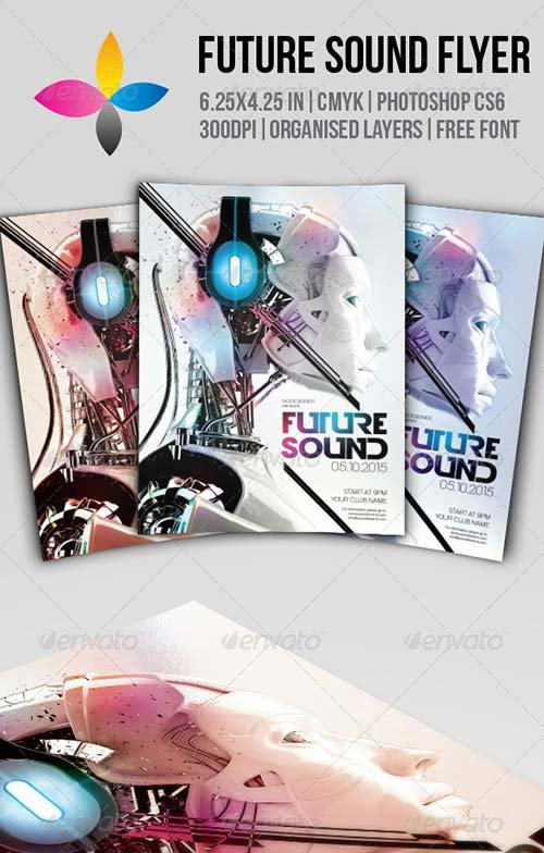 GraphicRiver Future Sound Flyer 7885522