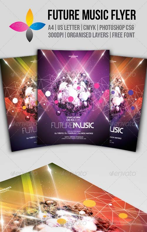 GraphicRiver Future Music Flyer 8590299