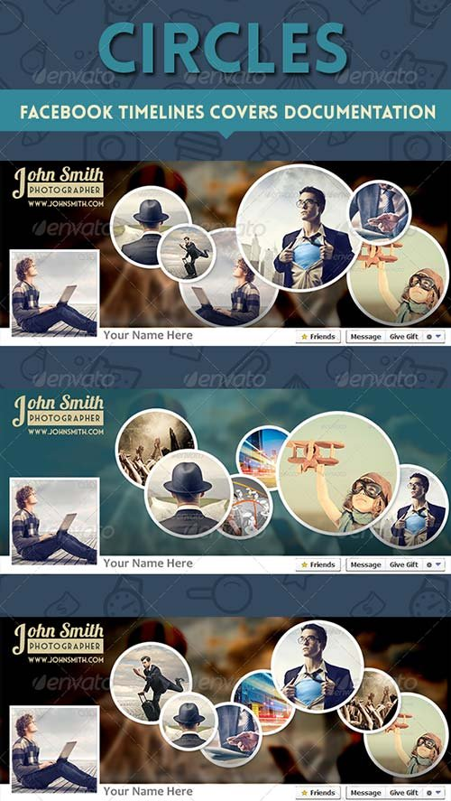 GraphicRiver Circles Facebook Timelines Covers