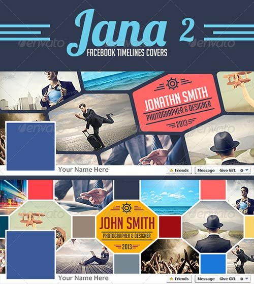 GraphicRiver Jana 2 Facebook Timelines Covers