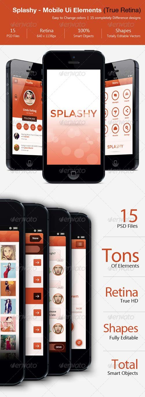 GraphicRiver Splashy - HD Mobile Ui Elements