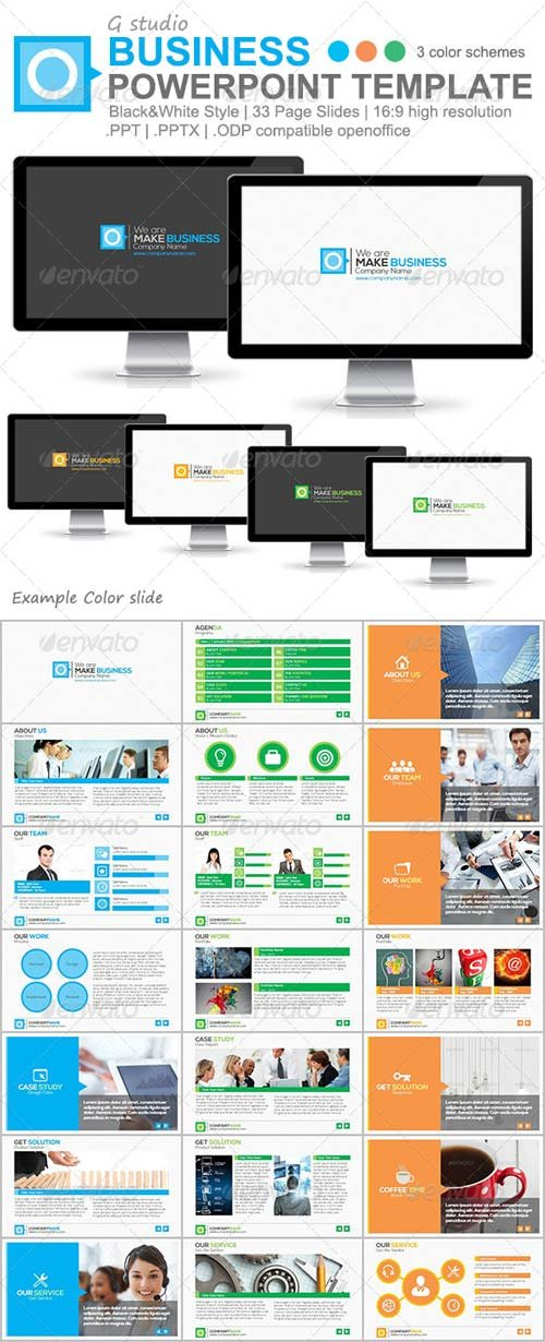 GraphicRiver Gstudio Business Powerpoint Template