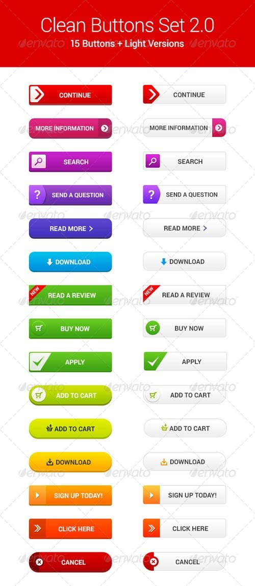 GraphicRiver Clean Web Buttons 2.0