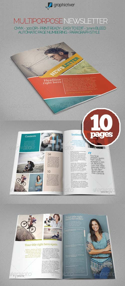 GraphicRiver Multipurpose Newslettter