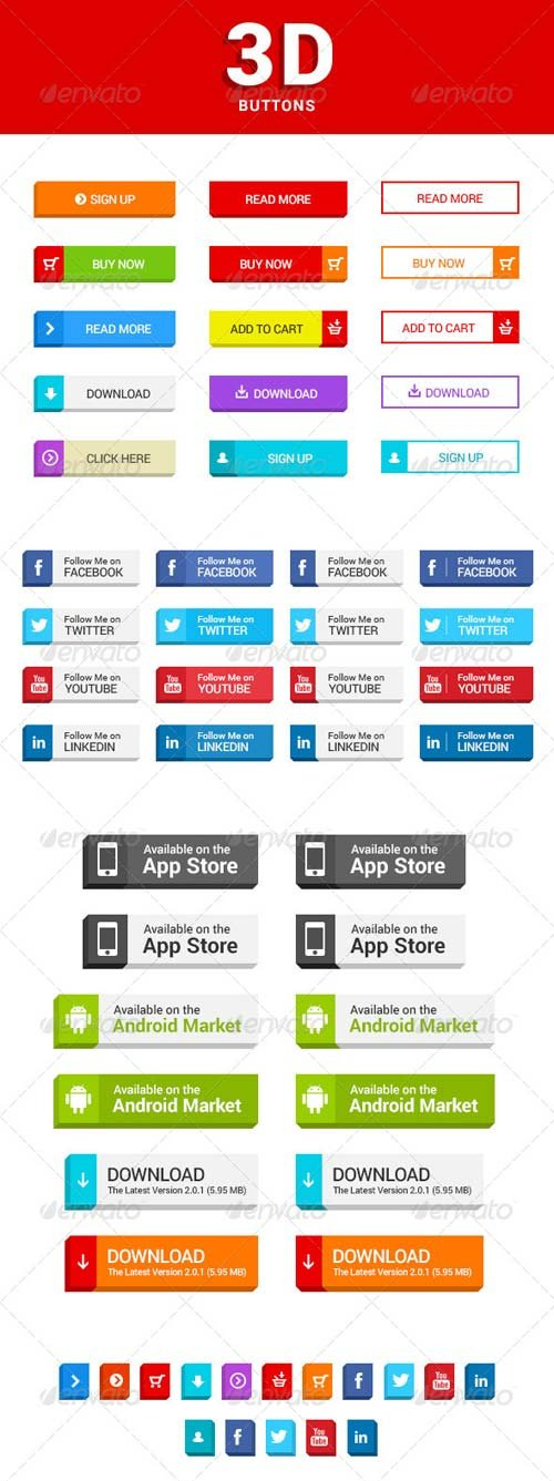 GraphicRiver 3D Buttons
