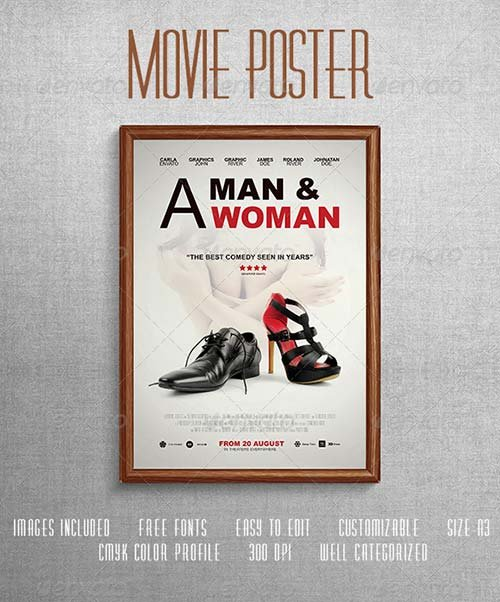 GraphicRiver Comedy Movie Poster Template