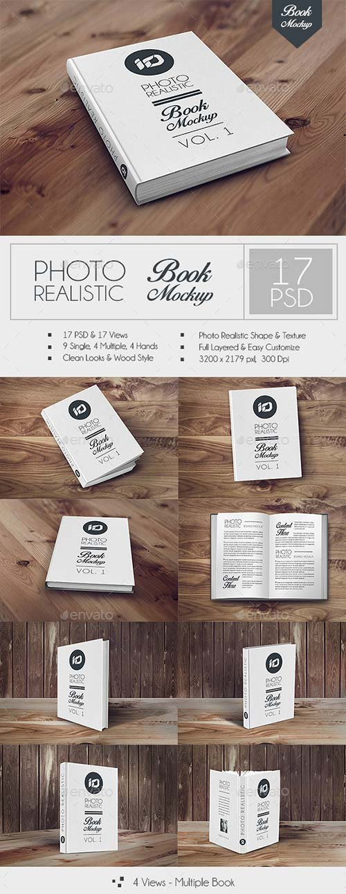 GraphicRiver ID Book Mock-up Photorealistic