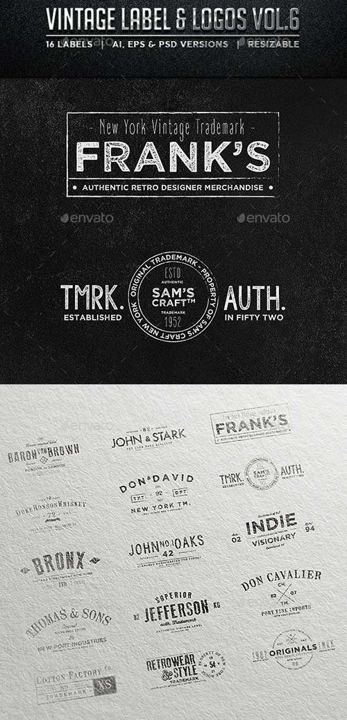 GraphicRiver Vintage Labels & Logos Vol.6