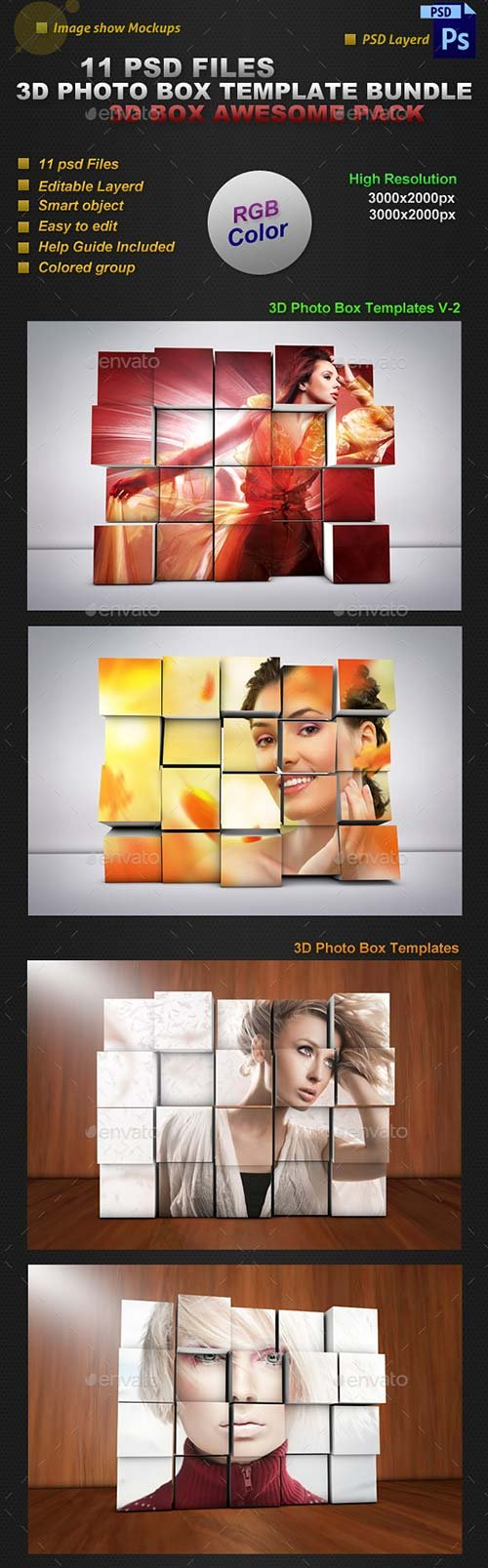 GraphicRiver 3D Photo Box Templates Bundle