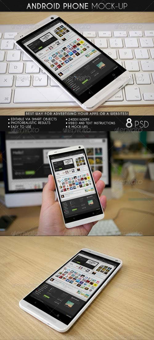 GraphicRiver Android Phone Mock-Up