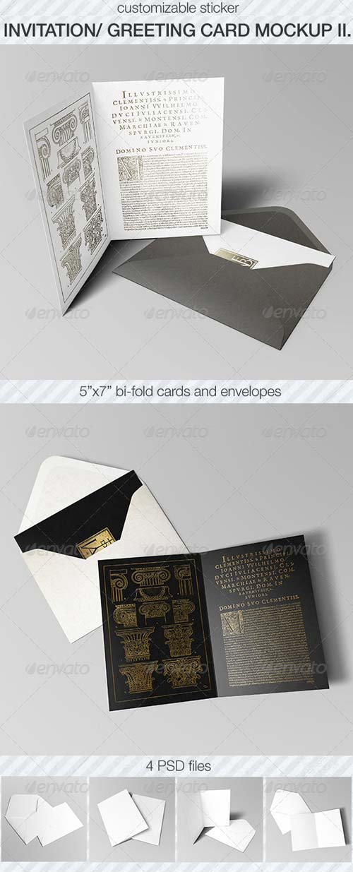 GraphicRiver Invitation & Greeting Card Mockup Pack II.