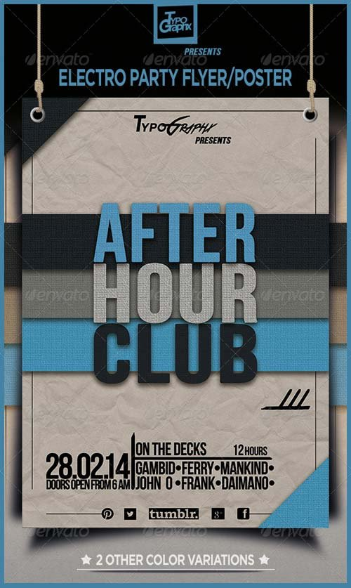GraphicRiver Electro Minimal Techno Party Flyer/Poster