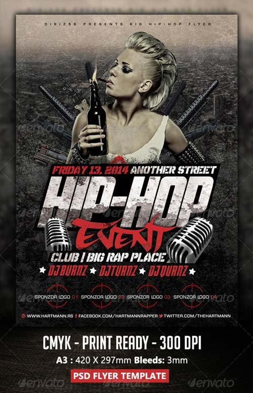 GraphicRiver Hip-Hop Flyer