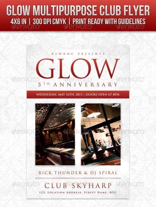 GraphicRiver Glow Multipurpose Club Flyer