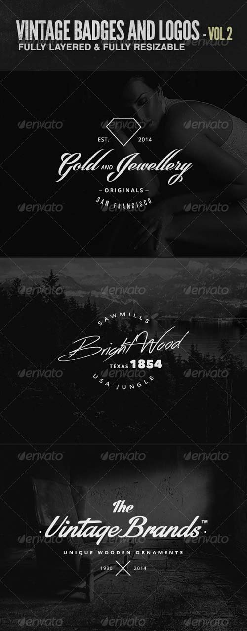 GraphicRiver Vintage Badges and Logos Vol 2