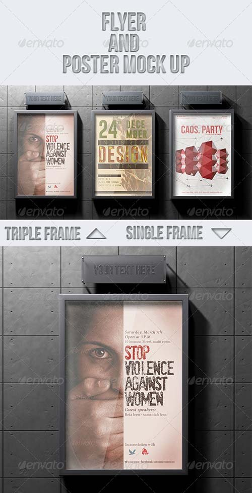 GraphicRiver Flyer and Poster Mock-up