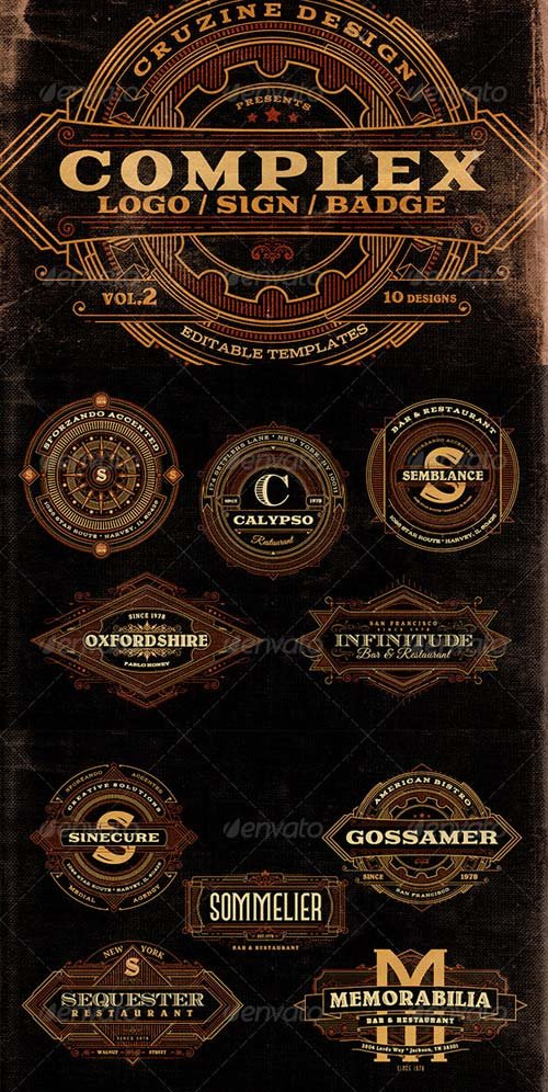 GraphicRiver Complex Logos/Signs/Badges v.2