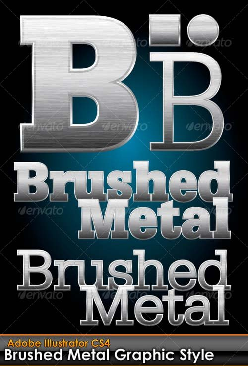 GraphicRiver Brushed Metal Illustrator Graphic Style
