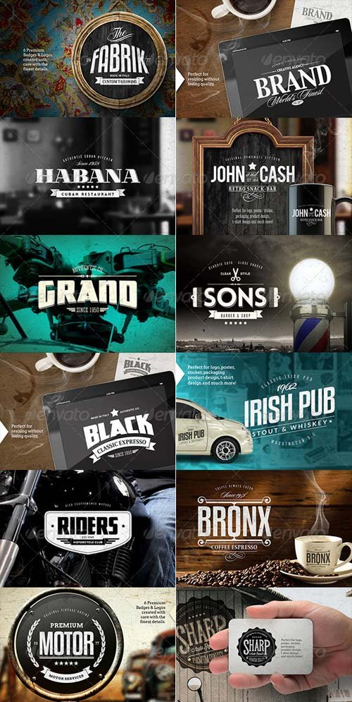 GraphicRiver 24 Badges & Logos Bundle