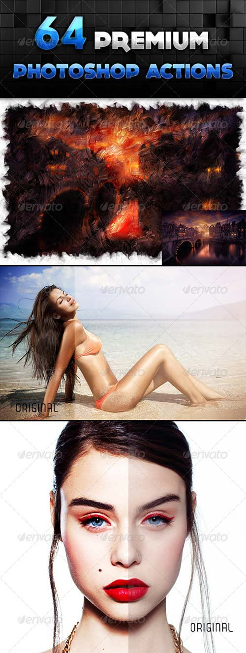 GraphicRiver 64 Premium Actions Set