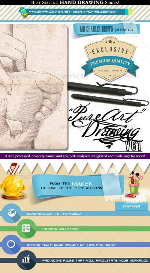 GraphicRiver Pure Art Hand Drawing 61 - Archetypal Pencil