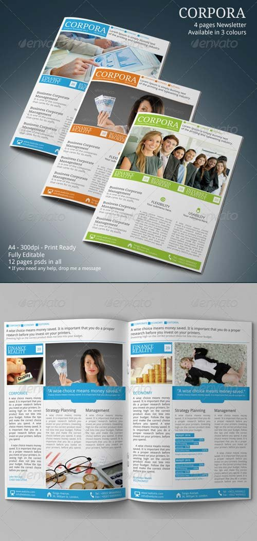GraphicRiver Corporate Newsletter Vol.3