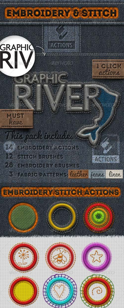GraphicRiver Embroidery and Stitching Photoshop Creation Kit