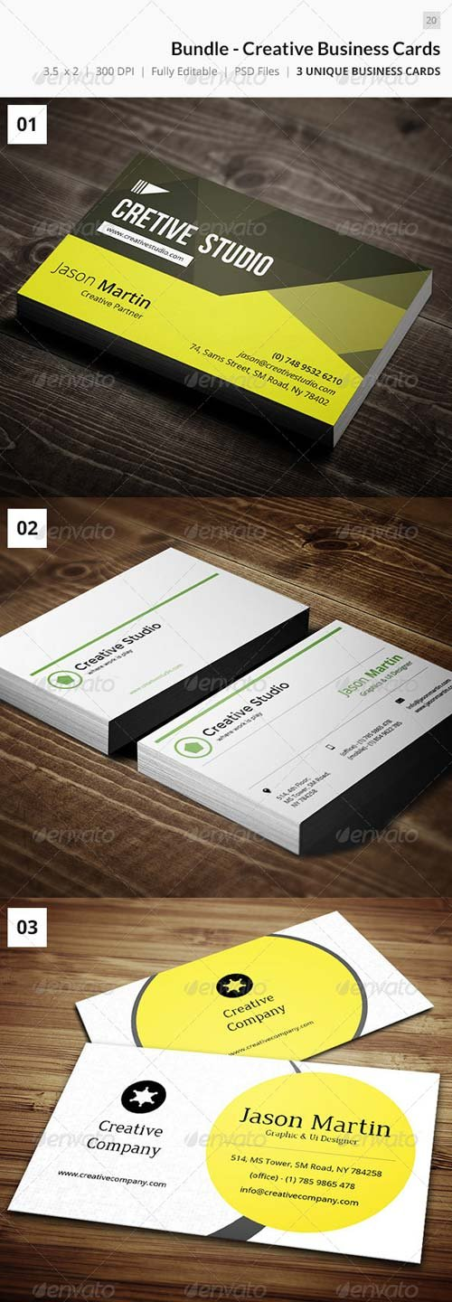 GraphicRiver Bundle - Creative Business Cards 20