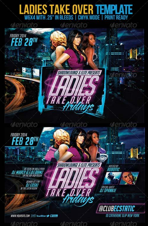 GraphicRiver Ladies Take Over Flyer