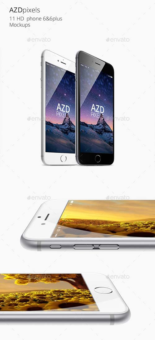 GraphicRiver 11 Phone 6 & 6plus Mockups