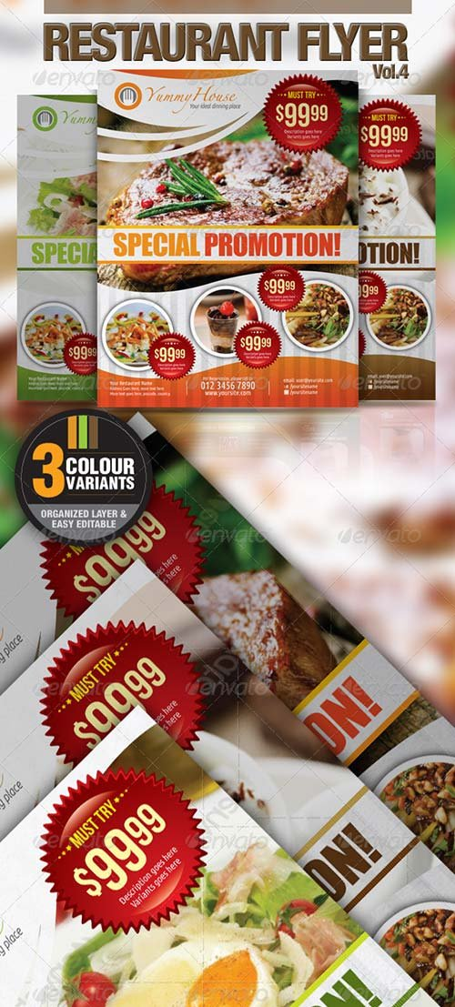 GraphicRiver Restaurant Flyer Vol.4
