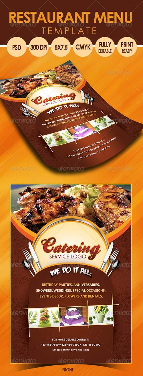 GraphicRiver Catering Menu Template (Flyer)