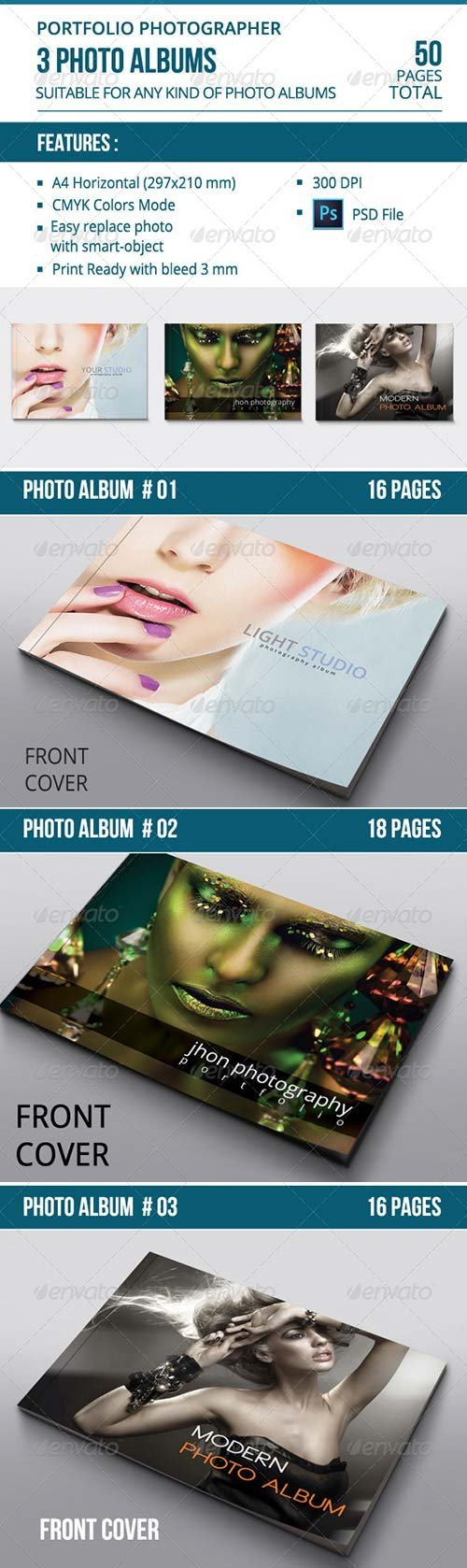GraphicRiver Photo Albums Bundle Vol. 01