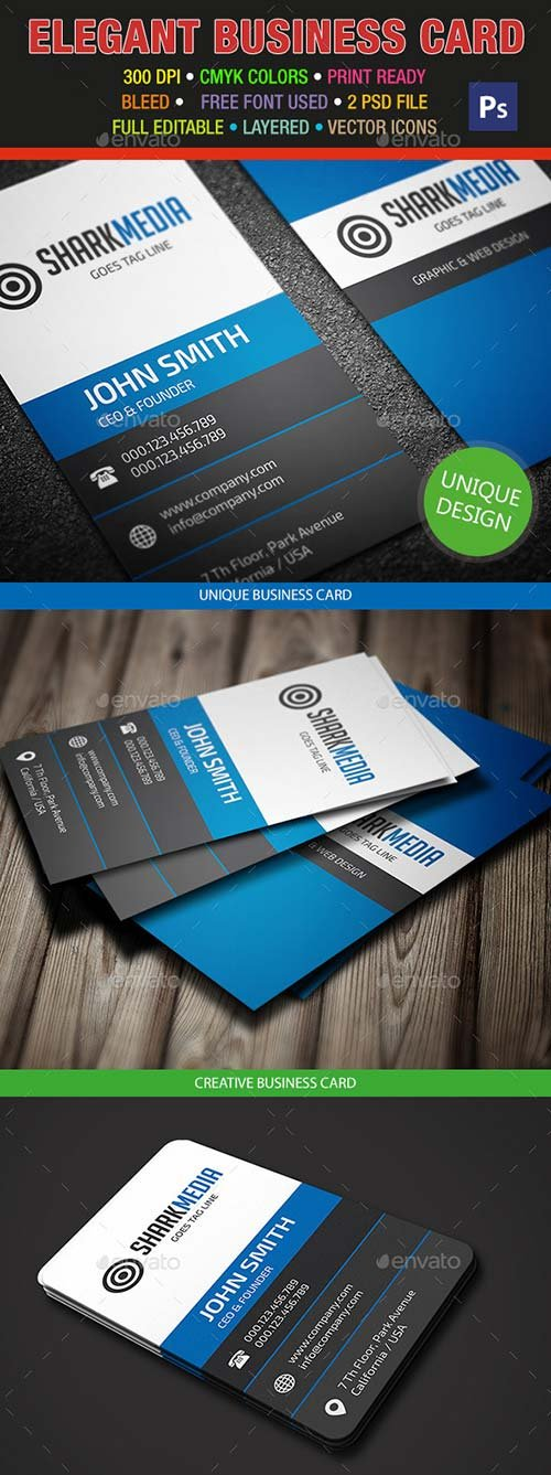 GraphicRiver Elegant Business Card 318