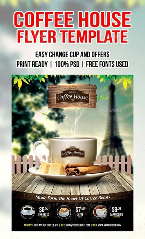 GraphicRiver Coffee shop flyer 8801528