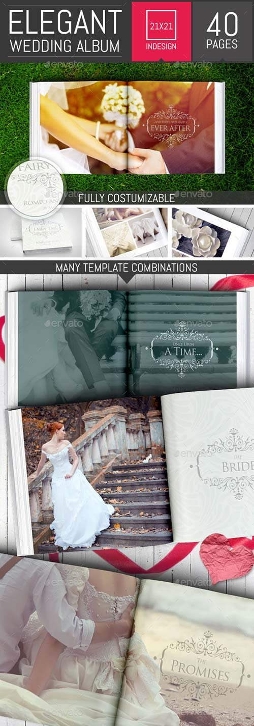 GraphicRiver Elegant Square Wedding Photo Album Template