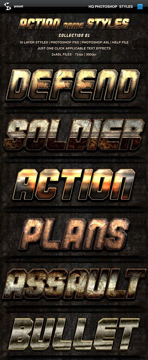 GraphicRiver Action Game Styles - Collection 1