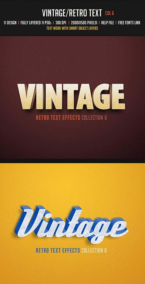GraphicRiver Vintage/Retro Text Col 6