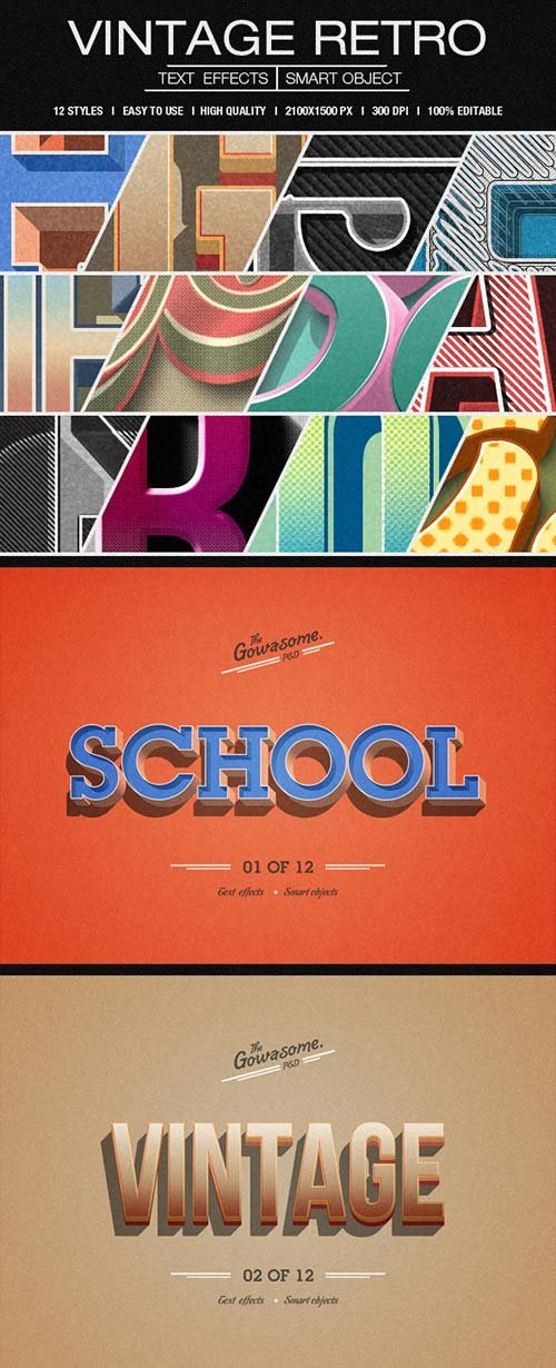 GraphicRiver Retro Vintage Text Effects 8809603