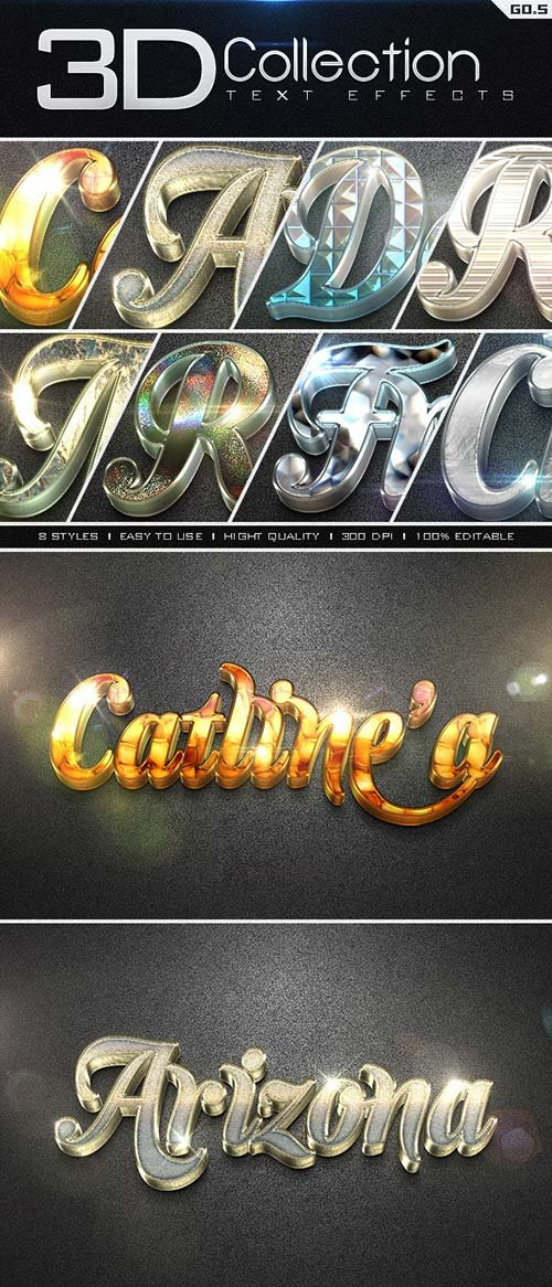 GraphicRiver 3D Collection Text Effects GO.5