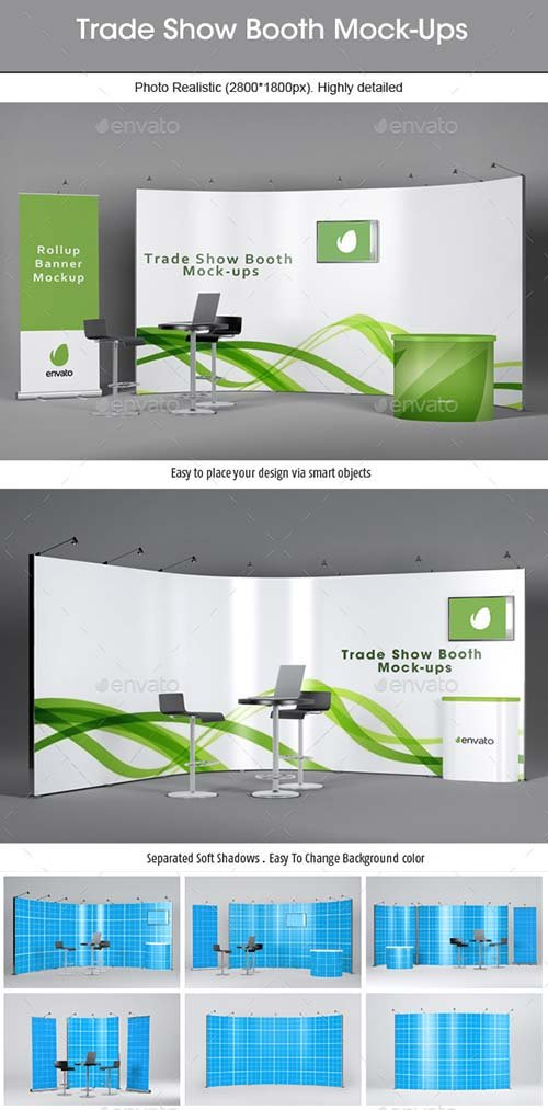 GraphicRiver Trade Show Booth Mockups v2