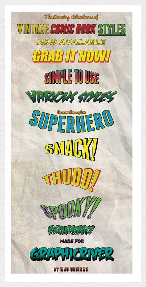 GraphicRiver Vintage Comic Book Styles