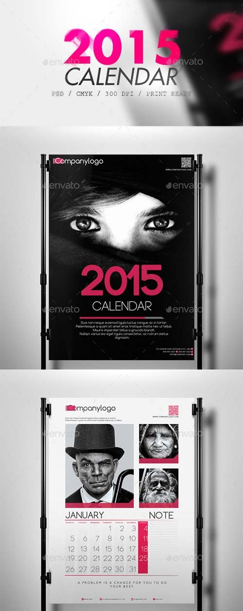 GraphicRiver Clean 2015 Calendar