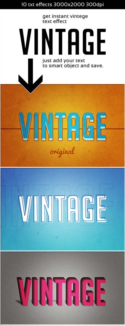 GraphicRiver Vintage Instant Retro Text Effect
