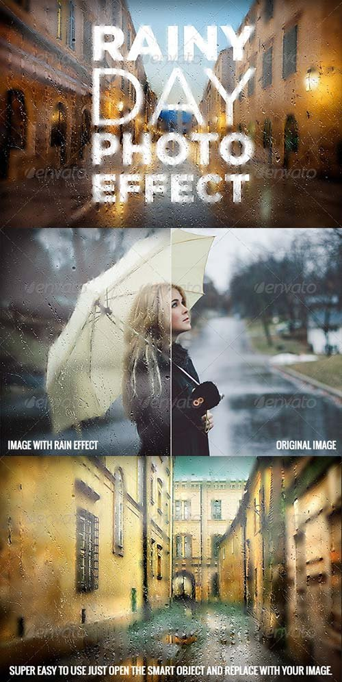 GraphicRiver Rainy Day Photo Effect